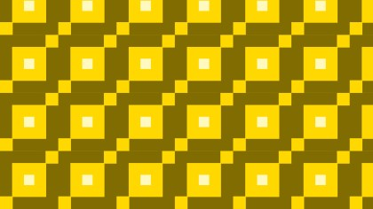 Yellow Seamless Geometric Square Pattern Background Graphic