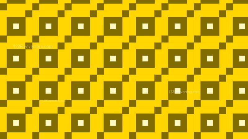 Yellow Seamless Geometric Square Background Pattern Illustration