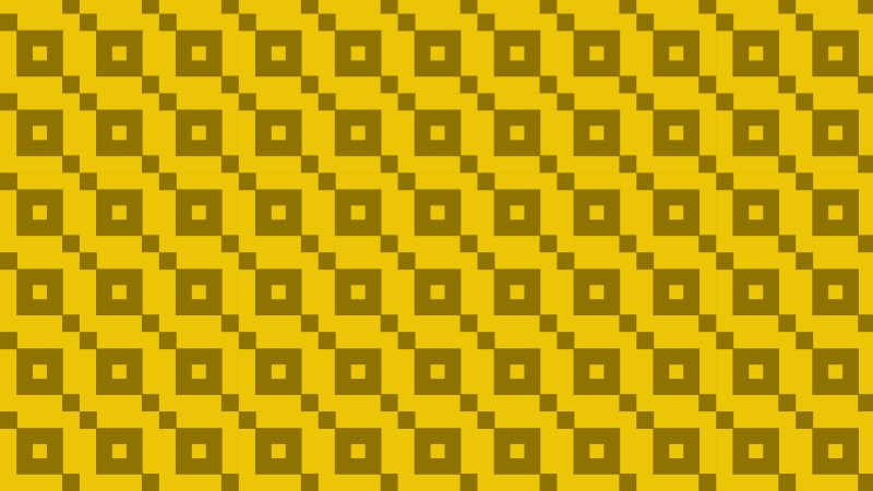 Yellow Geometric Square Pattern Background