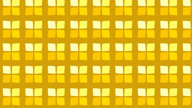 Yellow Seamless Geometric Square Pattern Background