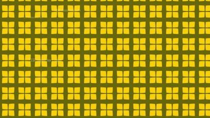 Yellow Geometric Square Pattern Vector Illustration