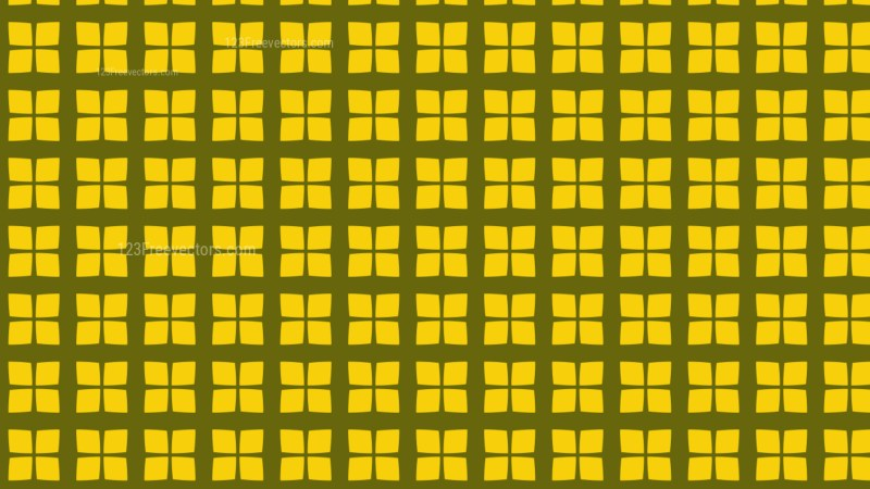 Yellow Geometric Square Pattern Vector Illustration