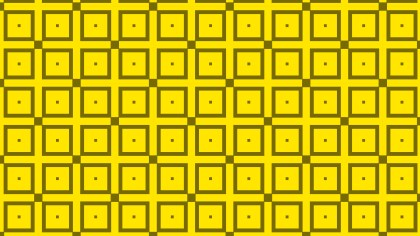Yellow Seamless Geometric Square Pattern Background Vector Graphic