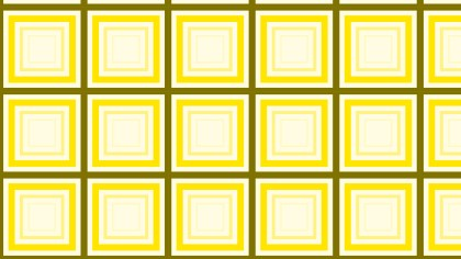 Yellow Concentric Squares Pattern Design