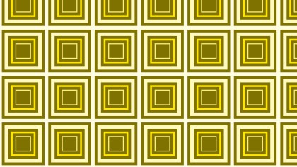 Yellow Concentric Squares Pattern Background Image