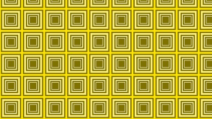 Yellow Concentric Squares Background Pattern Vector Graphic