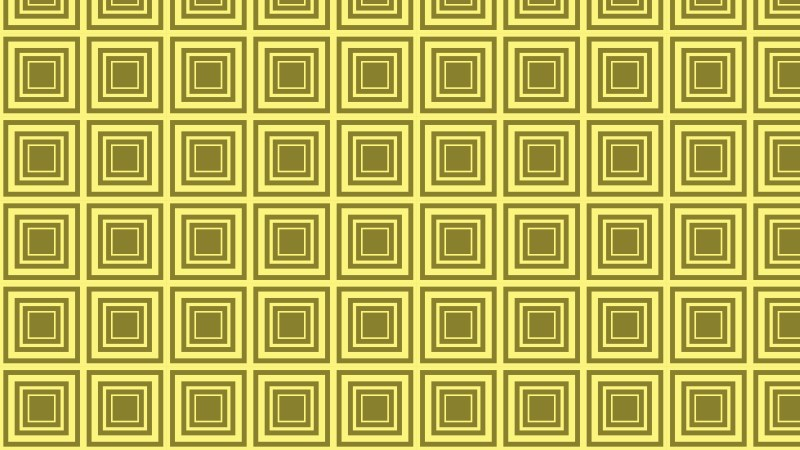 Yellow Concentric Squares Pattern