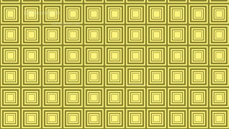 Yellow Concentric Squares Pattern Background