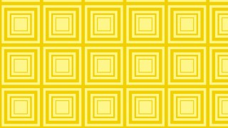 Yellow Concentric Squares Background Pattern