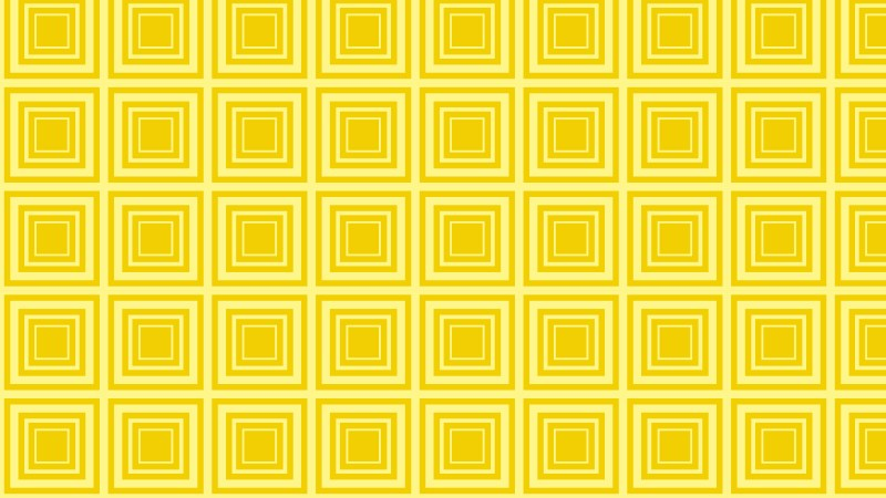 Yellow Seamless Concentric Squares Pattern