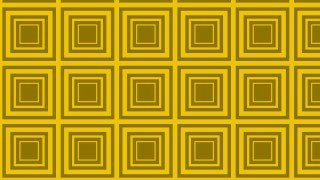 Yellow Seamless Concentric Squares Pattern Background