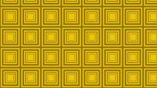 Yellow Seamless Concentric Squares Background Pattern