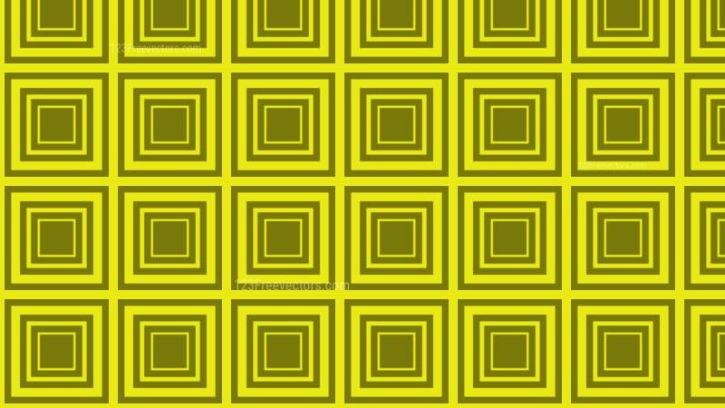 Yellow Concentric Squares Pattern Vector Graphic