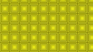 Yellow Concentric Squares Pattern Background Vector Image