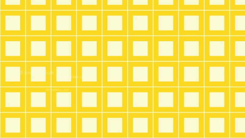 Yellow Square Background Pattern