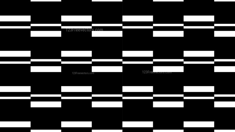 Black and White Seamless Stripes Background Pattern