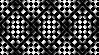 Black and White Seamless Stripes Pattern Vector Illustration