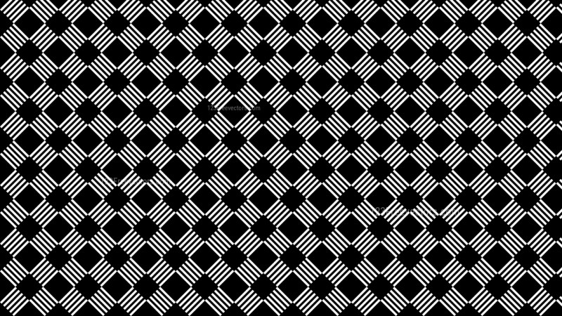 Black and White Seamless Stripes Pattern Vector Illustration