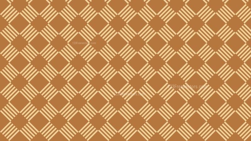 Brown Seamless Striped Geometric Pattern