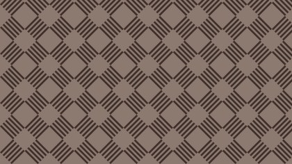 Dark Brown Seamless Geometric Stripes Pattern