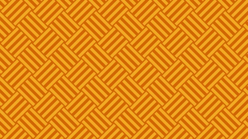 Orange Seamless Striped Geometric Pattern