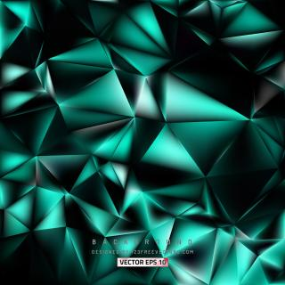 Black Turquoise Polygon Background