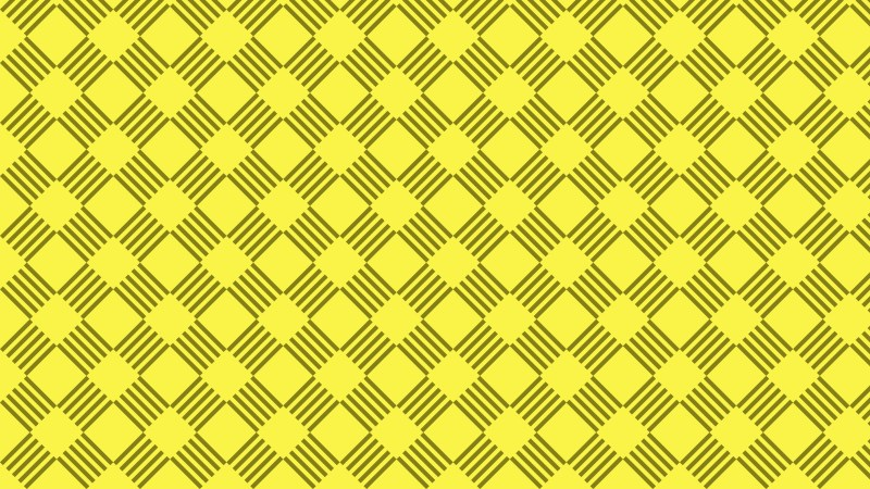 Yellow Geometric Stripes Pattern Vector Illustration