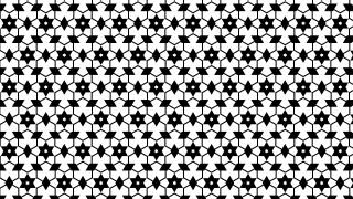 Black and White Star Background Pattern