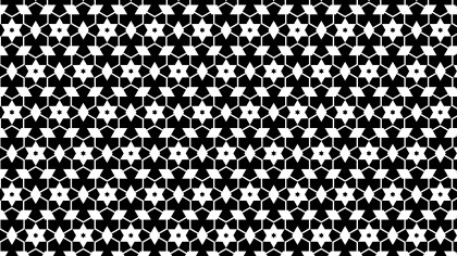 Black and White Seamless Star Pattern