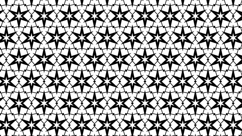 Black and White Seamless Star Pattern Background