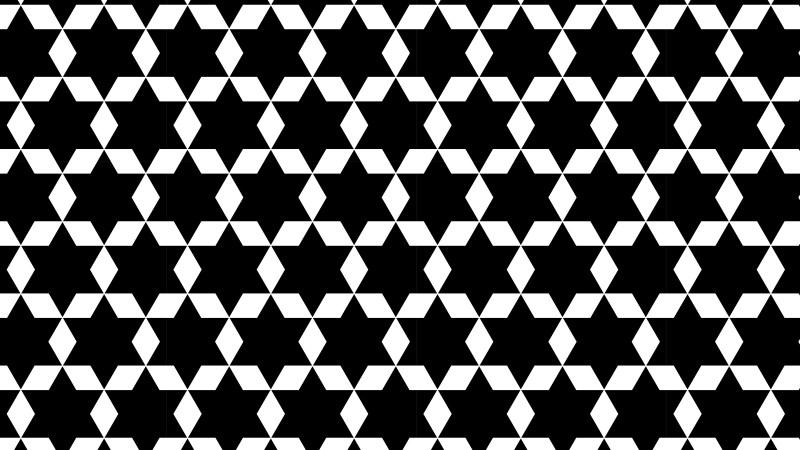Black and White Stars Pattern Background