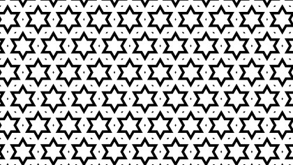 Black and White Stars Background Pattern