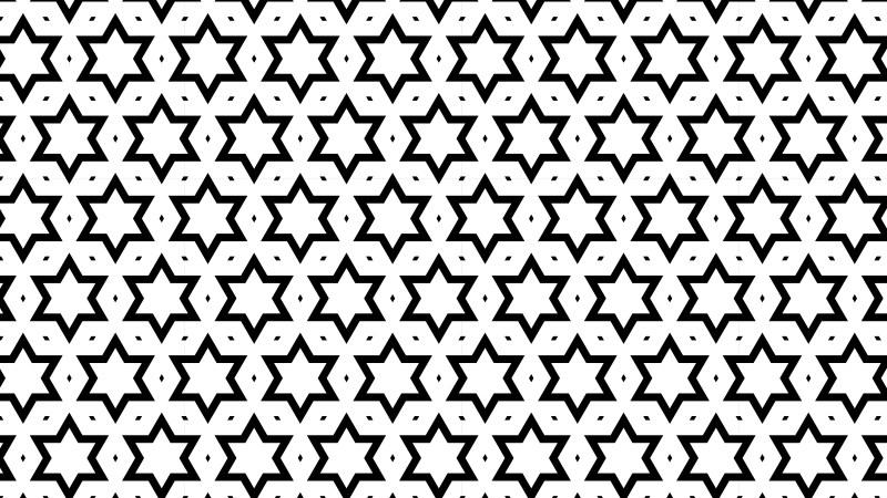 Black and White Stars Background Pattern