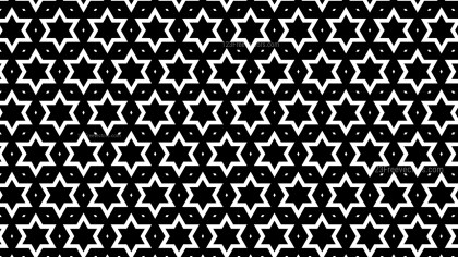 Black and White Seamless Stars Pattern