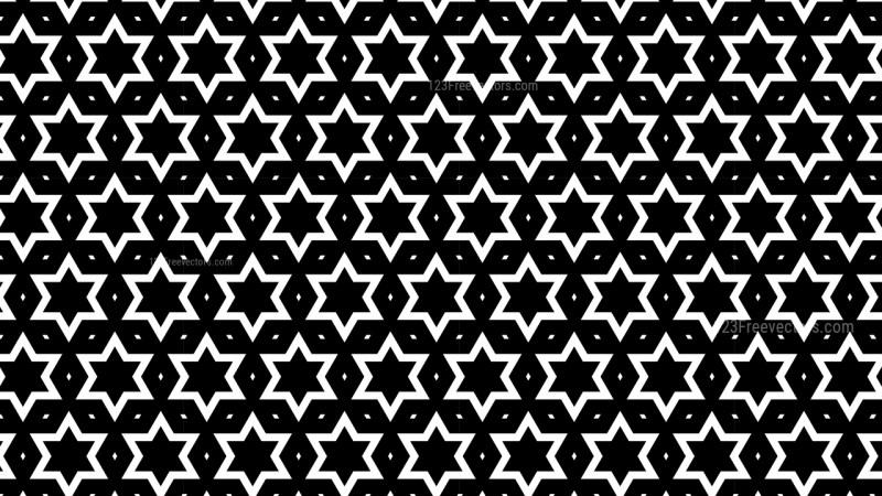 Black and White Seamless Stars Pattern