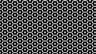 Black and White Star Pattern Graphic