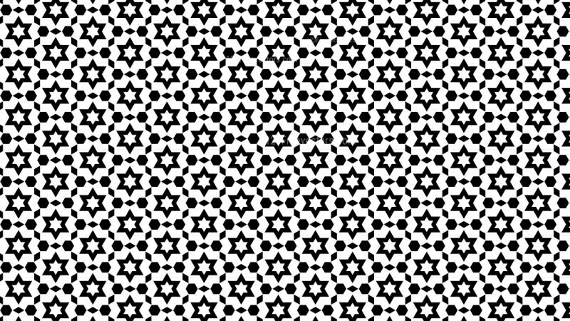 Black and White Star Background Pattern Design