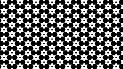 Black and White Stars Pattern Illustrator