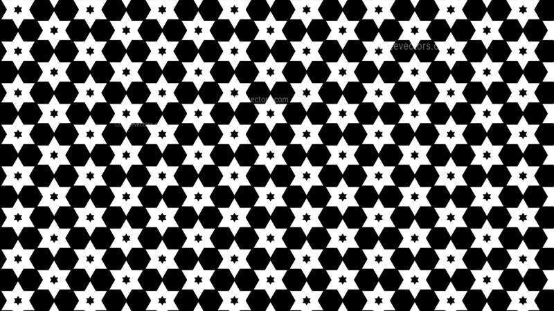 Black and White Stars Pattern Illustrator