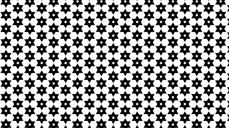 Black and White Stars Pattern Background Vector Illustration