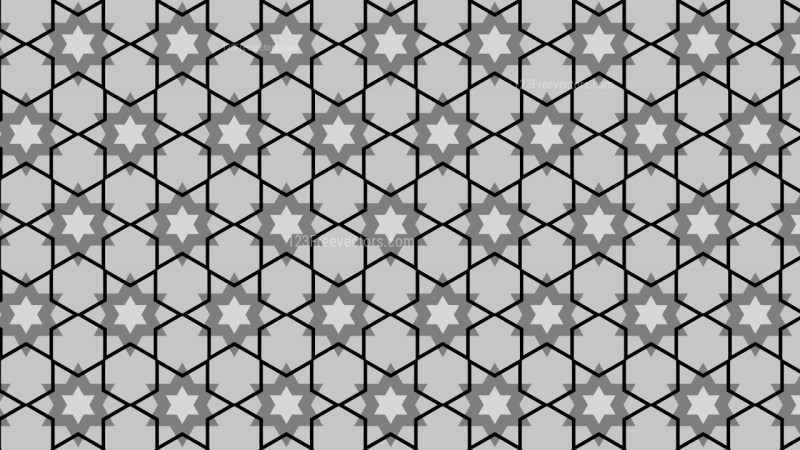 Black and Grey Stars Background Pattern Vector