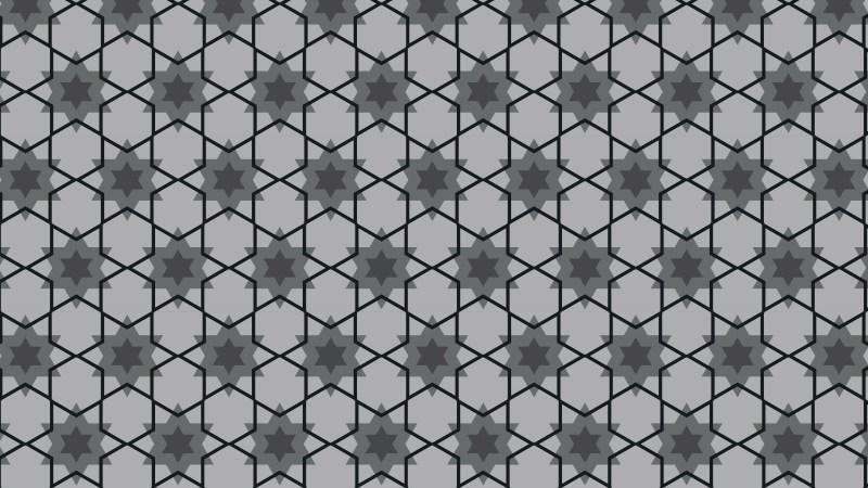 Black and Grey Seamless Stars Pattern Vector Art
