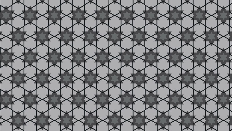 Black and Grey Seamless Stars Pattern Background Graphic