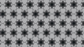 Black and Grey Seamless Stars Background Pattern Illustration