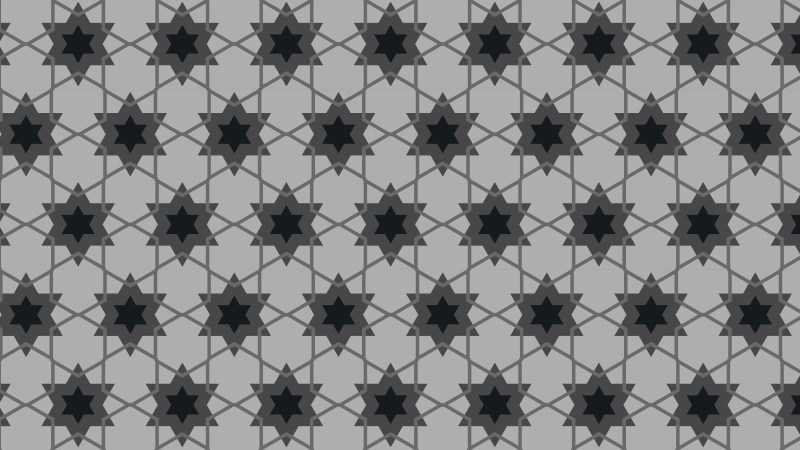 Black and Grey Seamless Stars Background Pattern Illustration