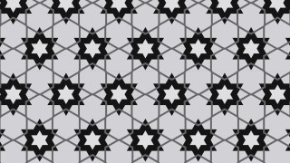 Black and Grey Star Background Pattern