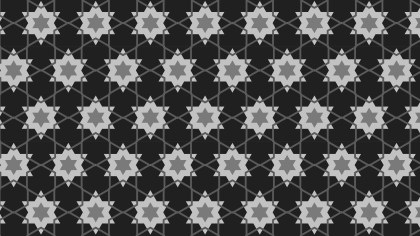 Black and Grey Stars Pattern Background