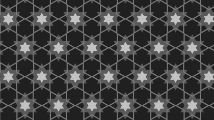 Black Seamless Stars Pattern