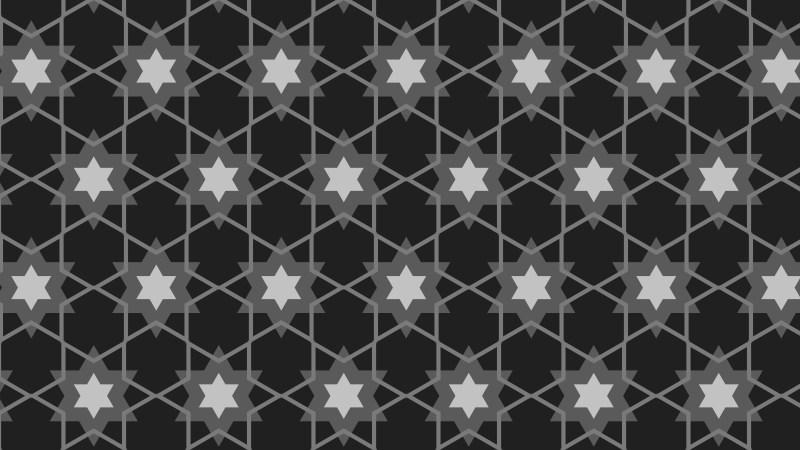 Black Seamless Stars Pattern