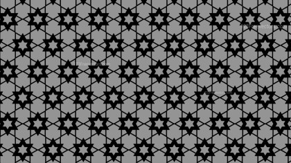Black and Grey Seamless Stars Pattern Background